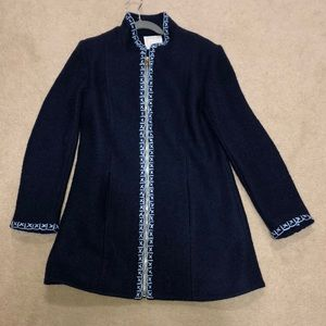 Sail to Sable beautiful blue wool coat, size small